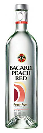 Bacardi Rum Peach Red